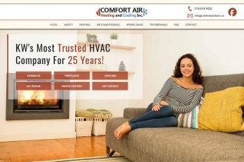 Kitchener Web Design - Comfort Air Ontario