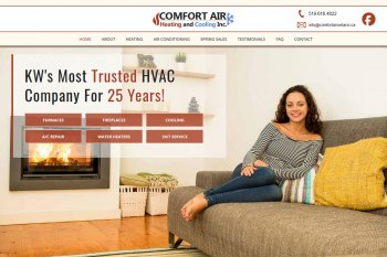 Kitchener Waterloo Website Design - Comfort Air Ontario
