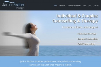 Kitchener Waterloo Website Design - Janine Fischer Therapy
