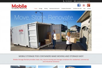 Kitchener Waterloo Website Design - Mobile Storage Rentals