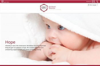 Kitchener Waterloo Website Design - One fertility