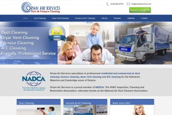 Kitchener Waterloo Website Design - Orsan Air Services