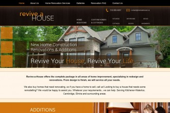 Kitchener Waterloo Website Design - Revive a House