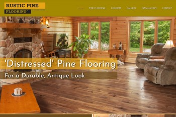 Kitchener Waterloo Website Design - Rustic Pine Flooring