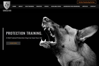 Kitchener Waterloo Website Design - Shield K9