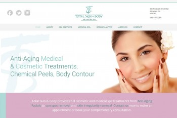 Kitchener Waterloo Website Design - Total Skin & Body